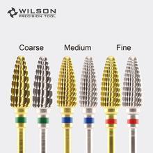 Large Cone - Gold/Silver - WILSON Carbide Nail Drill Bits Electric Manicure Drill & Accessory