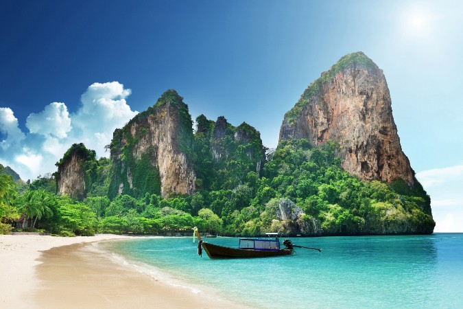 Railay Beach Thailand-Wallpaper Scenery Poster Home Decoration Printing Silk Wall Poster -High quality Picture Print