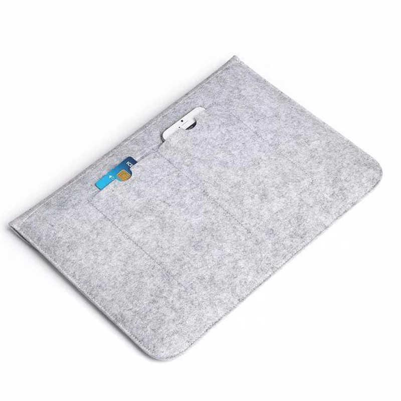 Housse en feutre de laine douce chaude pour Apple Macbook Air Pro Retina 11 12 13 15 housse pour ordinateur portable Xiaomi Lenovo HP Dell 13.3 15.6