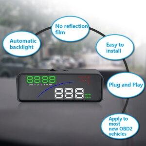 Image 2 - Wiiyii P9 hud車のヘッドアップディスプレイobd ii eobdフロントガラスプロジェクタースタイリング 2 システムディスプレイ自動車の付属品車のスタイリング