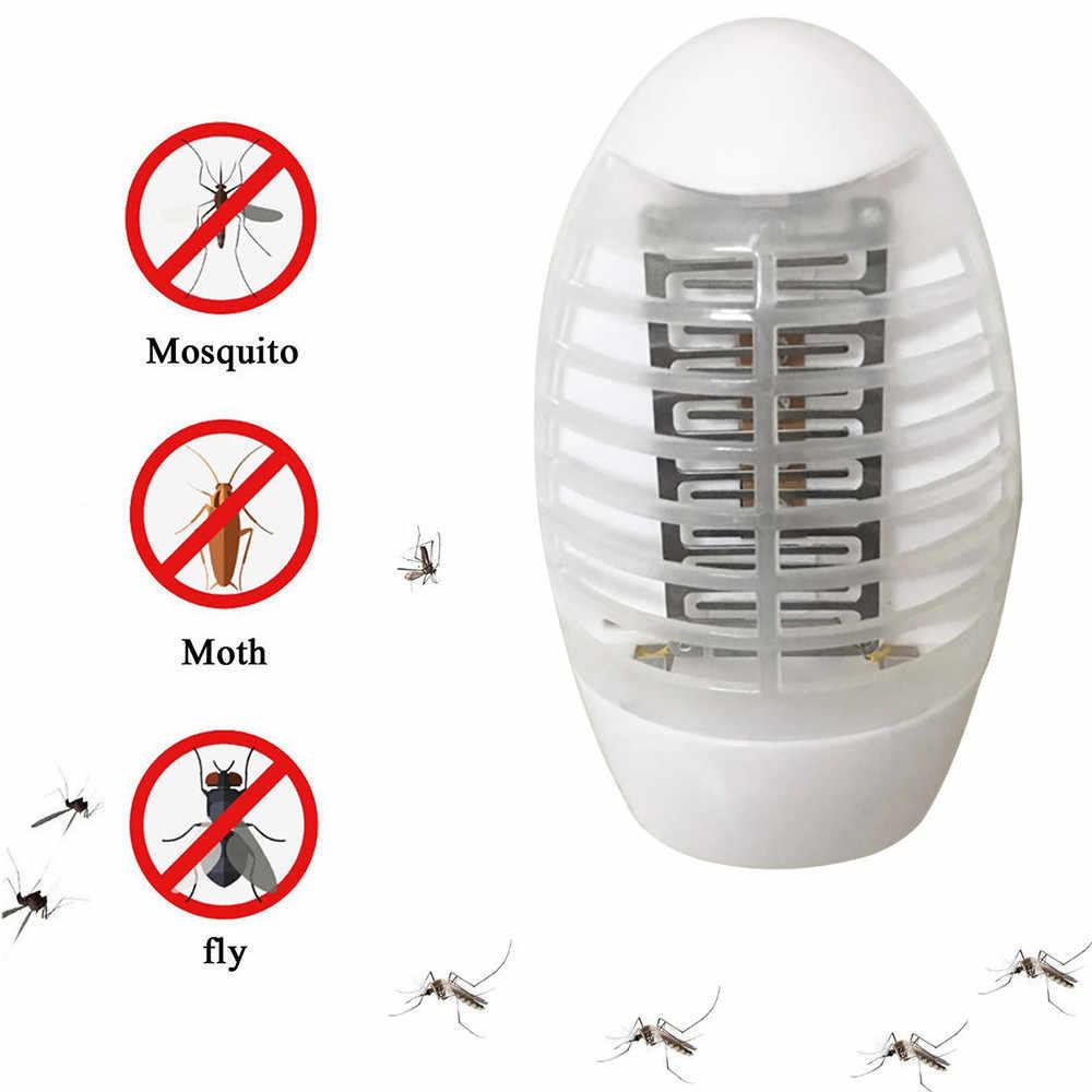 СВЕТОДИОДНЫЙ Электрический комары мухи Жук Насекомое ловушка уничтожитель Zapper ночник лампы 13,5x8 см ЕС штекер Прямая доставка