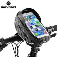 ROCKBROS אופני מסגרת תיק Tube רכיבה על רכיבה תיק טנא Smartphone GPS מגע מסך מקרה אופני אופניים אביזרי 4 צבעים-בתיקים וסלים לאופניים מתוך ספורט ובידור באתר