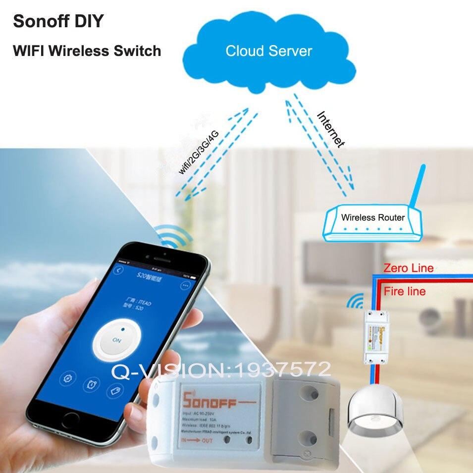 ITEAD Sonoff Intelligent Wifi Wireless Switch Universal Module DIY Tim