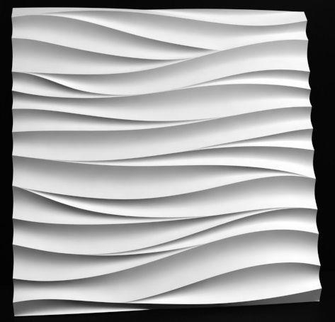 Us 632 20 Offformy Z Tworzyw Sztucznych 3d Z Tworzywa Sztucznego Dekoracyjne Panele ścienne Fala Cena Za 1 Sztuk Rozmiar 500x500x30mm Nowy