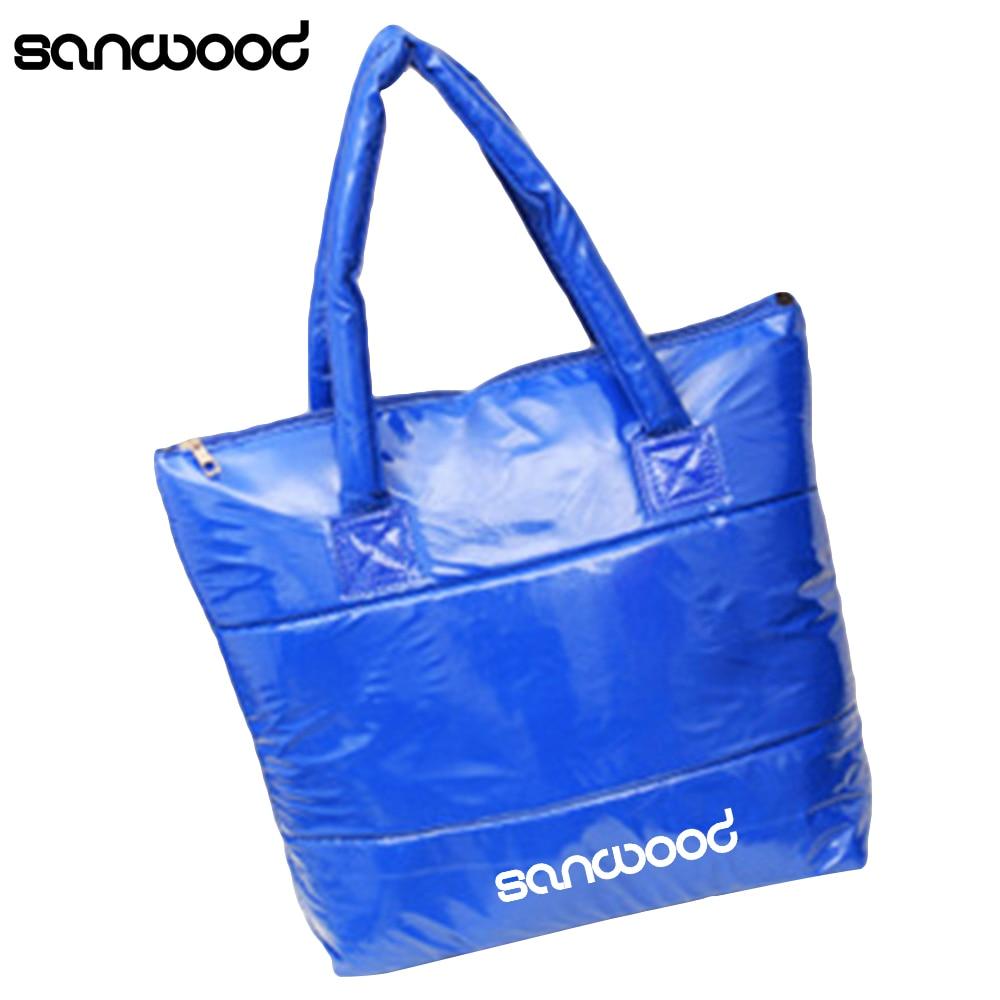 Women Korean Style Space Bale Cotton Tote Casual Shoulder Bag Handbag