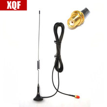 XQF NA UT-102 UV SMA-Female Dual Band Car Magnetic Antenna For BaoFeng UV-5R 888S Two Way Radio For Kenwood Walkie Talkie(China)