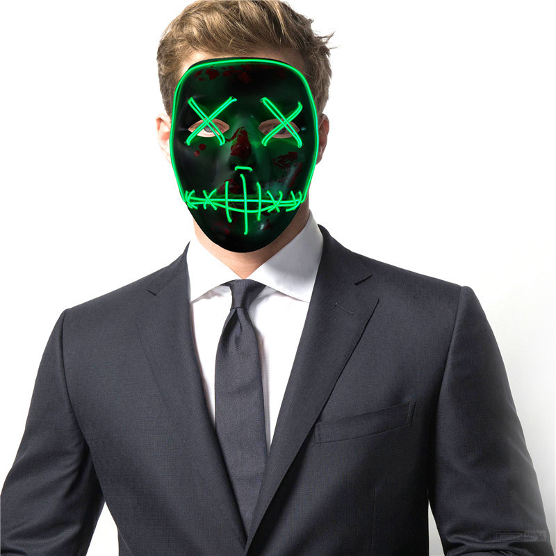 Aliexpress.com : Buy Halloween SKELETON Shaped LED Flashing Mask ...