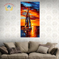 40 80cm Large Oil Painting By Numbers Coloring Drawing Wall Decor Canvas Picture Paint By Number
