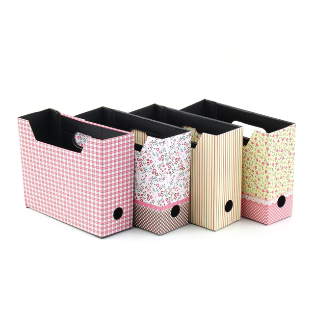 DIY cardboard box storage box container frame stationery cosmetics ...