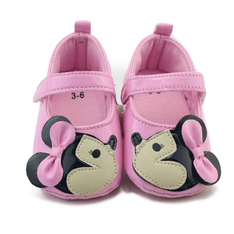 Super Cute Cartoon Minnie Girl Baby Leather Shoes Bright ...