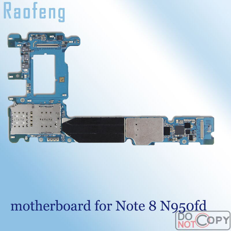 Raofeng Mainboard N950fd Note-8 64GB for Samsung Galaxy Note-8/N950fd/Motherboard Whole-Function