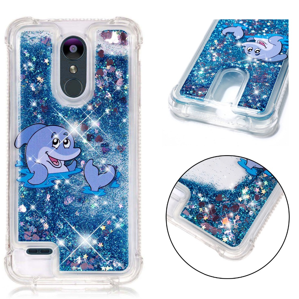 Unicorn Liquid Case for LG K8 2018 / LG K9 funda Etui for Coque LG K10 2018 K30 G7 ThinQ K4 K8 K10 2017 V20 V30 Plus Case ice cream cart toy
