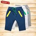 Meney 2016 Nuevos Bebés de la Llegada del Verano Pantalones Cortos de Algodón Niños Sólido Cordón Beach Shorts Niños Pantalones Cortos Niño Niño Corto pantalones