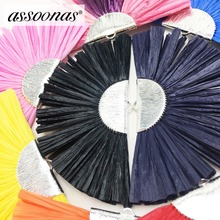 hot deal buy assoonas l157,raffia tassel,jewelry accessories,earring findings,accessories parts,jewelry making,charms,hand made,2pcs/lot