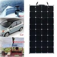 100 Вт 12 В монокристаллического полу гибкие эффективность Панели солнечные Зарядное устройство для RV лодка Батарея зарядки
