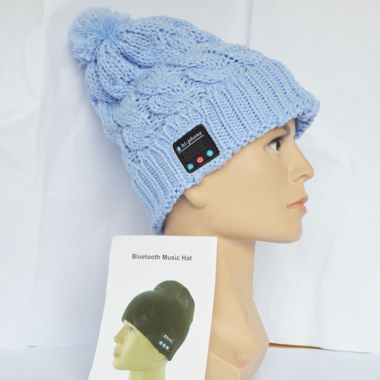 Wholesale Fabric Bluetooth Beanie Hat With Headphone Smart Bluetooth Beanie Music Knitted Hat Winter MP3 Women / Men Cap.