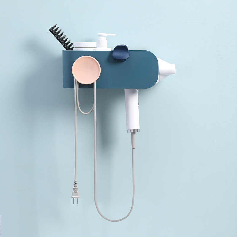 High Quality fashion Wall-mounted Hair Dryer bathroom Shelf Storage Hairdryer holder for hairdryer