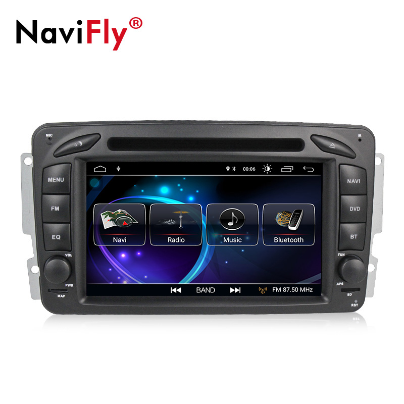 7 pouces 2 din TDA7851 Android 8.1 voiture lecteur multimédia pour Mercedes/Benz Clk W209/W203/W168 /W163/Viano/W639 DVD GPS WIFI CANBUS