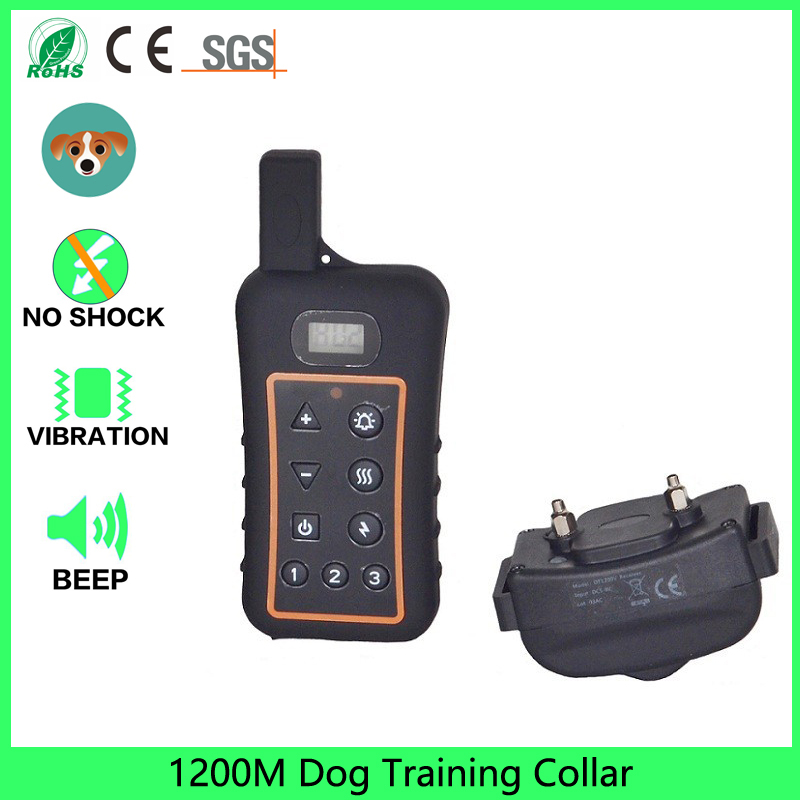 2017 Speciální nabídka Rushed Training Collars Bzučák Ultrazvukové pes Repeller Waterproof 1200m Remote Dog Training Collar