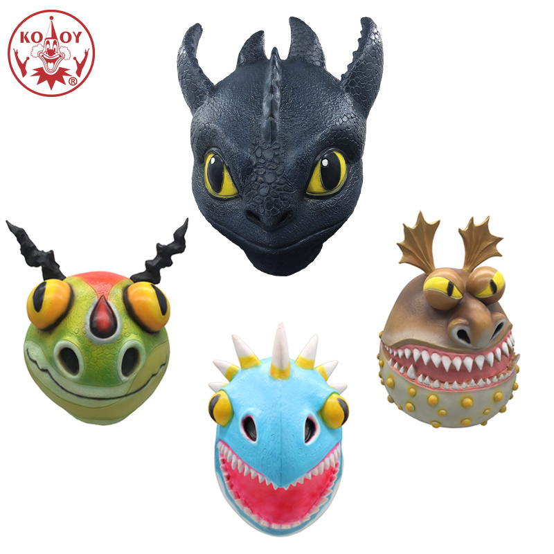 Toothless Night How To Train Your Dragon cosplay masks Helmet Adult Halloween The Hidden World Horror dragon latex masks party