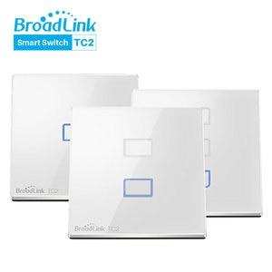 Image 1 - Broadlink TC2 האירופי WiFi מתג מגע פנל בריטניה האיחוד האירופי סטנדרטי קיר אור מתג APP שליטה על ידי IOS אנדרואיד טלפון חכם בית אוטומציה