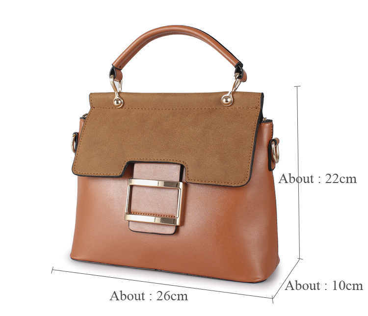 Women's Stylish Buckle Crossbody Shoulder Handbag TWH19