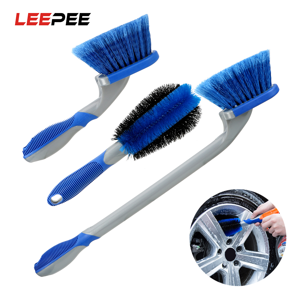 LEEPEE Car Detailing Car Washing Tool Tyre Cleaning Brush Car Wheel Brush