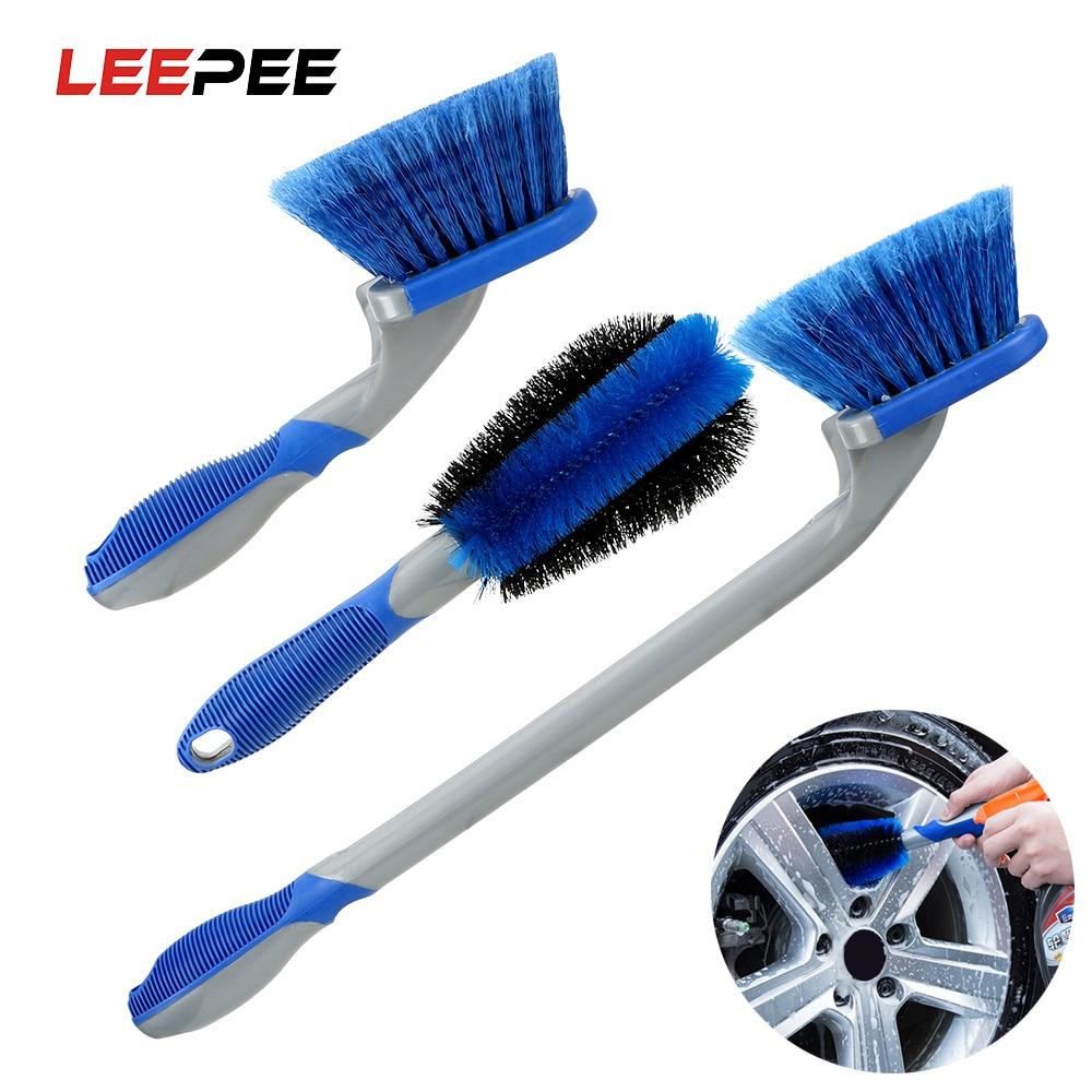 LEEPEE Car Detailing Car Washing Tool Tyre Cleaning Brush Car Wheel Brush