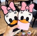 2016 New cute 3D Cartoon Donald duck daisy soft silicone case for samsung galaxy s6edge s6edge plus s7 s7edge c7 Rubber cover
