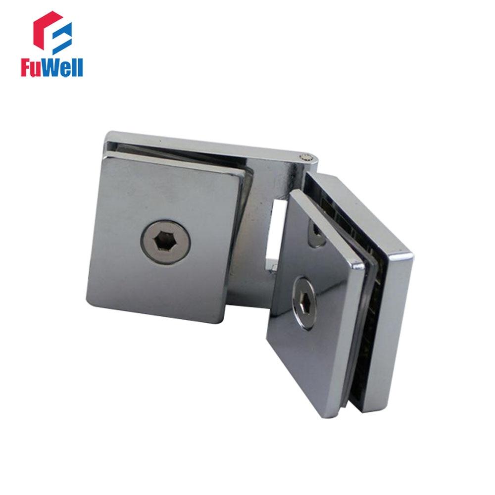 Pince de Pivot de porte en verre sans cadre   Pour placard, verre à verre, pinces de Pivot adaptées à la charnière en verre de 5-8mm dépaisseur