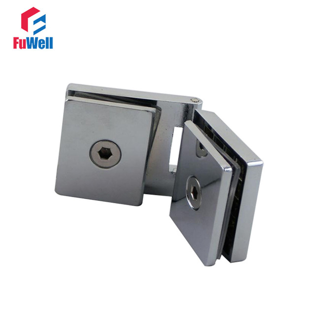 Frameless Glass Hinge Clamp Cupboard Glass To Glass Door Pivot