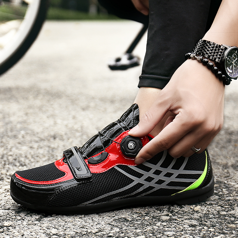 Ultralight Athletic Racing Sneakers Men Women Cycling Shoes Breathable Mesh Men Road Bike Bicycle Shoes Anti