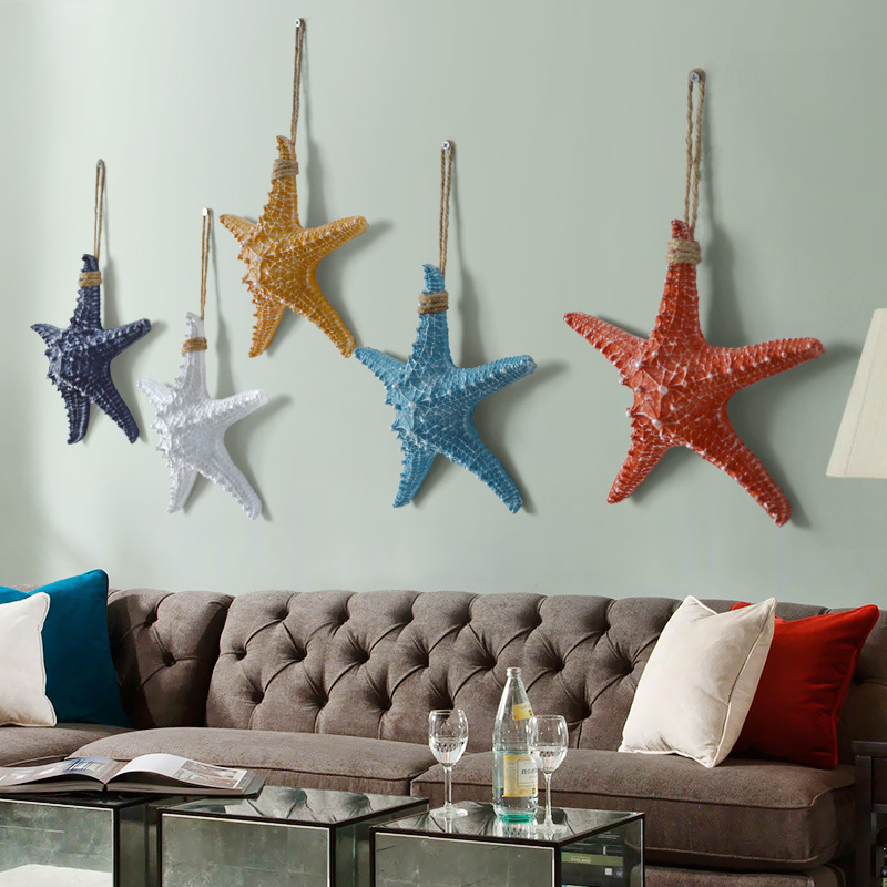 Ocean theme wall hanging decorative starfish Mediterranean
