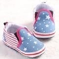 Zapatos de bebé Primeros Caminante Estrellita Niños Niñas Niño Zapatillas de Deporte de Lona del Niño Del Bebé Mocasines Zapatos Primero Que Caminan Calzado Lindo