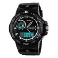 2016 Skmei Marca Mens de Quartzo De Pulso Analógico Digital el LED Relógios Homens S Choque Relógio Resistente À Água Relógio Do Esporte