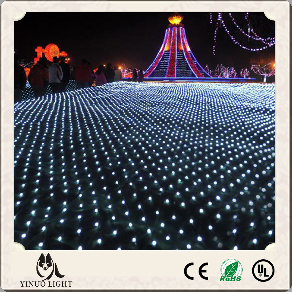 Wedding party 4 6m 672 led net lights outdoor net lights for 160 net christmas decoration lights clear