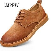 New Spring 2019 Men's Shoes Men's Leisure Leather Shoes  Fashion Brand Men Oxford Shoes Italian Popular Men Flats Brogue Shoes