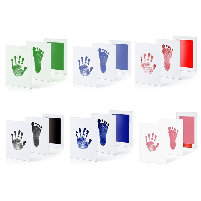 Baby Ink Pad Paw Print Pads Baby Paw Hand Footprint Makers Newborn Care Air Hand Foot Infant Imprint Kit Infant Gifts Souvenirs