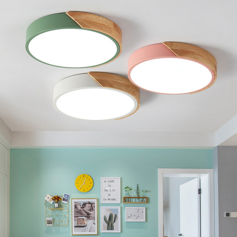Image 4 - Modern led ceiling light with remote control Loft living room lights bedroom Nordic interior lighting home Wood led plafondlamp-in Ceiling Lights from Lights & Lighting