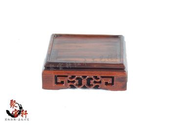 Square base custom solid wood carving rosewood household act the role ofing is tasted Buddha vase handicraft furnishing articles base on the green sandalwood carvings handicraft furnishing articles kettle pot of buddha aquarium household act the role ofing