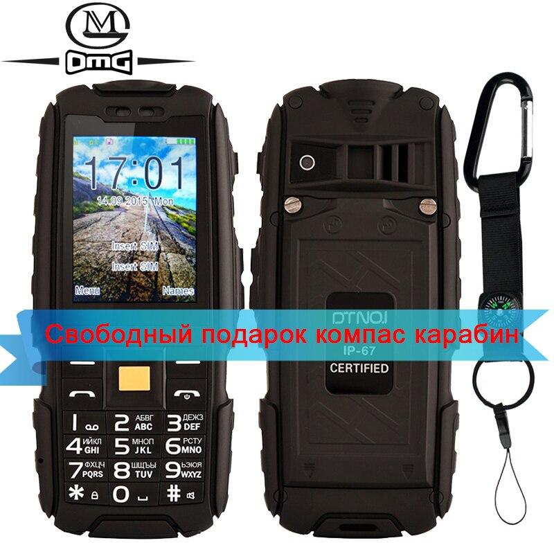 D'origine DTNO. Je A9 4800 mAh batterie Clavier Russe IP67 Étanche antichoc antipoussière mobile cellulaire téléphone FM lampe de Poche caméra