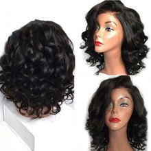 Glueless Lace Front Human Hair Wigs Pre Plucked Short Curly Human Hair Wigs Brazilian Lace Front Wigs Remy 13×4.5 Lace Frontal