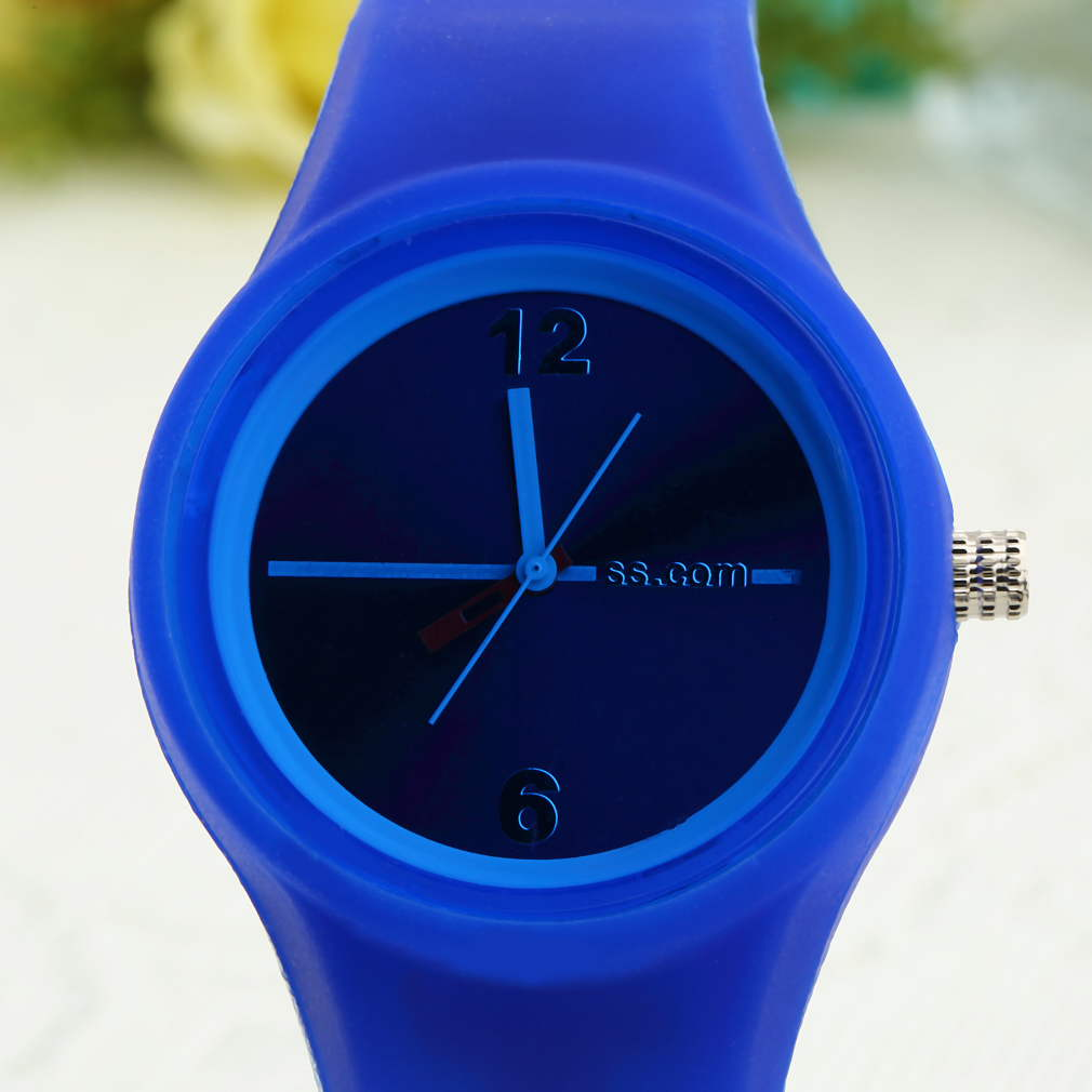 Children's Watches New Unisex Sports Candy Wrist Watch Creative Blue Rose Red Color Activity For Boys And Girls Chirdren Kids Gifts 2018