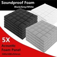 500x500x50mm Soundproof Foam Acoustic Sound Stop Absorption Sponge Drum Room Accessories