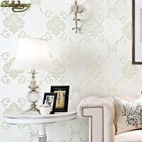 beibehang papel de parede 3D Luxury Flocking Flower Wallpaper for Wall paper Bedroom living room decoration European 3D wall