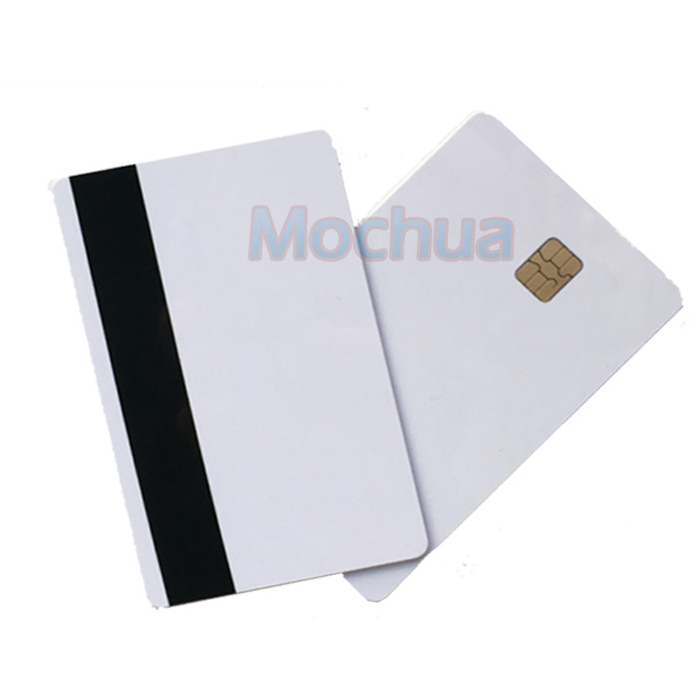 Contact SLE4442 Chip ISO7816 PVC Smart IC Card With 2750oE Hi Co Mag-stripe -10pcs(China)