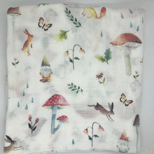 Baby Blanket Muslin Swaddle Wraps Cotton Bamboo Baby Blankets Newborn Bamboo Muslin Blankets Rabbit Butterfly