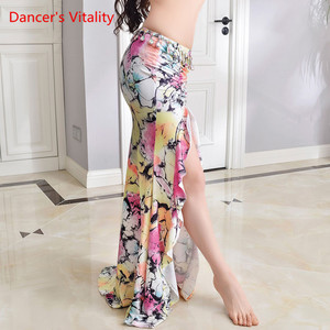 Image 5 - New Practice Belly Dance Costume Milk Silk flower elegant Long Skirts