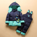 2016 Baby Infant Boy Girl Warm Winter Coverall Snowsuit Outerwear Coats Kid Romper Down Parkas Jacket Clothing Sets