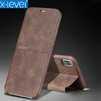 X Level Vintage Flip Leather Phone Case For IPhone 8 Case IPhone 6 6s Plus Ultra